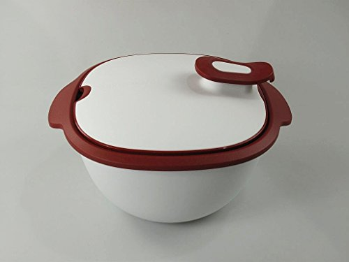 TUPPERWARE Thermo-Duo 3,25 L rood wit serveren warmhouden warmhouden warmte-tups Iso-Duo