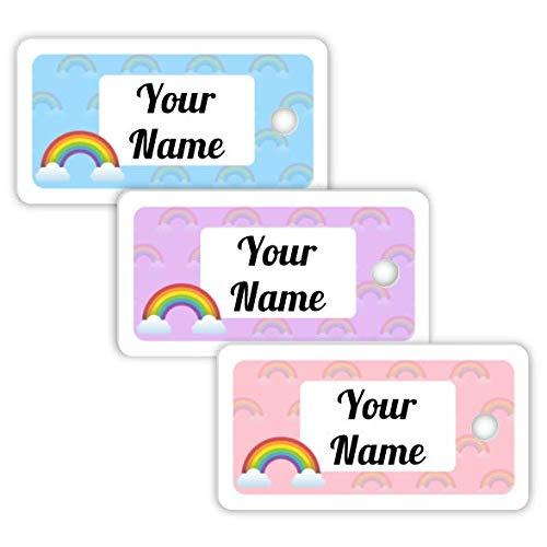 Personalizzata impermeabile mini bag tag Rainbow Theme