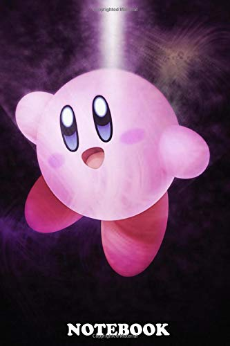 """Notebook: First Generation Of Super Smash Bros Kirby , Journal for Writing, College Ruled Size 6"""" x 9"""", 110 Pages"""