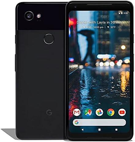 Google Pixel 2 XL (128GB, 4GB) 6.0″, IP67 Water Resistant, 12.2MP 4K Camera, Snapdragon 835, GSM+CDMA Unlocked (Verizon, T-Mobile, AT&T, Global) G011C (Fast Car Charger Bundle) (Renewed) (Just Black)
