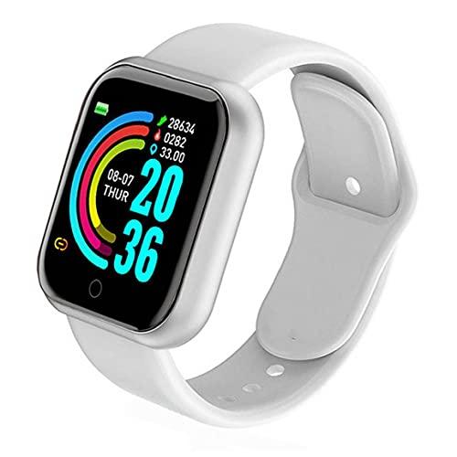 Sraeriot Smart Watch Y68 Prueba De Frecuencia Cardíaca a Prueba De Agua Pantalla Reloj De Fitness Para Hombres Mujeres Compatibles Con Andriod Ios White Smart Watch
