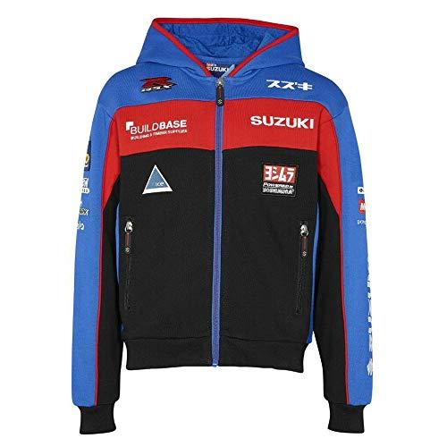 Suzuki BSB Team Hoodie Jacke Kapuzen Sweatshirt Zipper blau rot (L)