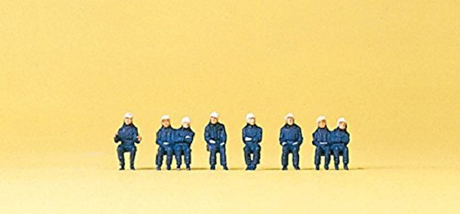 N Scale Seated Firemen by Preiser
