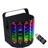 ARQG Luci da discoteca, luci for feste attivate dal suono DMX512 Proiettore da palco a LED con telecomando for feste all'aperto e feste di compleanno