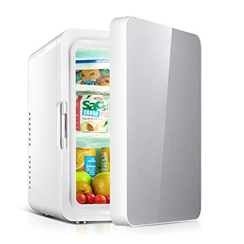 Bdb 22L Mini Nevera, Portátil Refrigerador Compacto De Gran Capacidad, Nevera, For Los Coches, Casas, Oficinas, Y Dormitorios Nevera para Bebidas (Color : Silver)