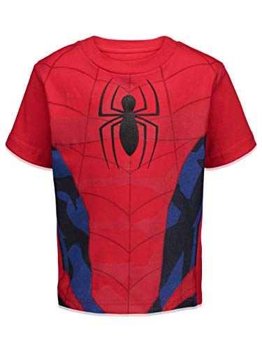 Product Image 2: Marvel Spiderman Toddler Boys 4 Pack Graphic T-Shirts 4T