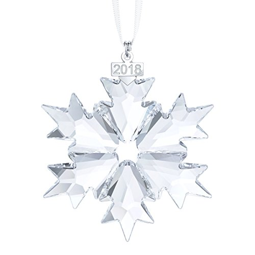 Swarovski Annual Edition Ornament 2018, Kristall, transparent, 8.1 x 6.5 x 0.8 cm
