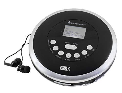 Soundmaster CD9290SW DAB UKW Radio und CD/MP3-Player mit Akkulade- und Hörbuchfunktion
