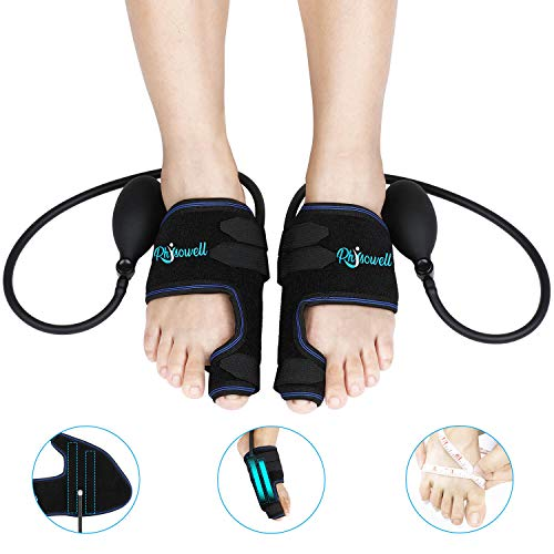 Bunion Correctors, Physowell Bunion Splints Big Toe Straightener Separators for Hallux Valgus, Hammer Toes, Bunion Pain and Foot Relief (Left & Right-Pneumatic Version)