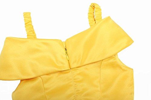 『Relibeauty Little Girls Layered Princess Belle CostumeドレスUp,イエロー』の6枚目の画像