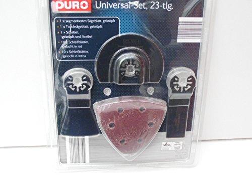 DURO Univeral Set 23 teilig (Sägeblatt, Tauchsägeblatt, Schaber u.Schliefblätter