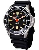 Moderno orologio subacqueo di Tauchmeister con data, cinturino in PU T0320