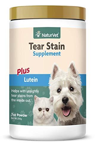 GARMON CORP NaturVet Tränenflecken-Nahrungsergänzungsmittel Plus Lutein für Hunde und Katzen, 200 g Pulver