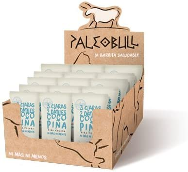 Barrita Proteica Paleo 100% natural - Alta en proteínas - Frutos del Bosque (55g) - Pack ahorro de 15 barritas