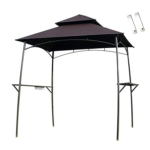 DZWJ Barbecue Grill Gazebo 2Pcs LED Double-Tier BBQ Canopy Tent Coffee Shelter for Patio and Outdoor Backyard