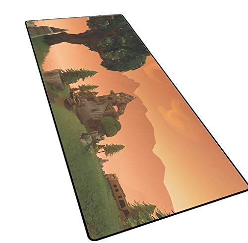 1STSPT Gaming Mouse Pad Anti-slip Comfort Waterdichte Toetsenbord Mat met Antislip Base Antislip Rubber Base, Verbetert Snelheid en Precisie, voor Games, Office Werken, 900X400X3MM, Schieten spel mat-6
