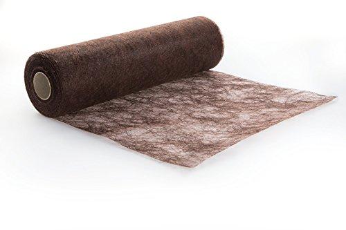 Protinam Tischläufer, Kunstfaser, 2700 Schokoladenbraun, 25m