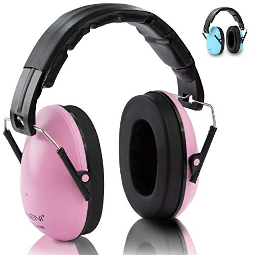 NENI Kinder Gehörschutz in Blau oder Pink - Premium Kapselgehörschutz von 1 bis 16 Jahre - mitwachsende und...