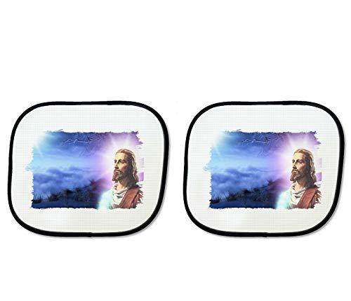 MERCHANDMANIA Parasol Doble Jesucristo Hijo DE Dios Religion sunshield Coche