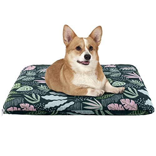 JIANGAA Durable Canvas Hundebett, 21 Zoll Maschinenwaschbare Haustiermatratze mit abnehmbarem Deckel, warmes und bequemes Hundedrucken Tierbett für kleine Hunde und Hundekiste (Size : M)