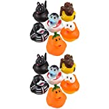 The Dreidel Company Halloween Rubber Duck Toy Duckies for Kids, Bath Birthday Gifts Baby Showers Summer Beach and Pool Activity, 2' (12-Pack)