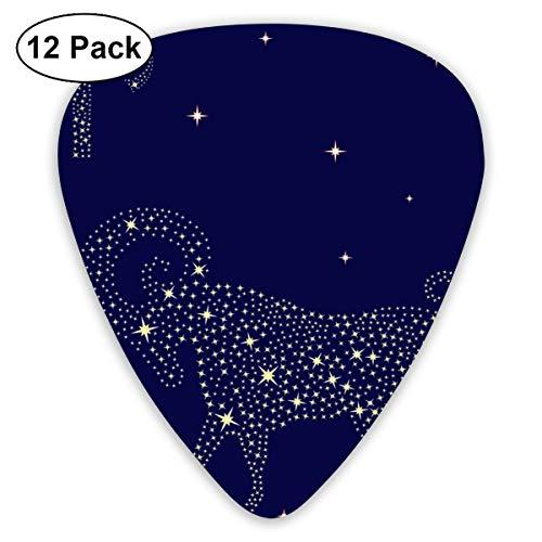 Zodiac Teken Ram Op De Sterrenhemel Sampler Gitaar Pick Klassieke Picks 12-pack Voor Elektrische Gitaar Akoestische Gitaar Mandoline En Bas Aangepast