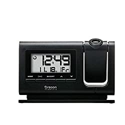 Oregon Scientific RM308PA Classic Projection Clock with Atomic Time Calendar Date - Black