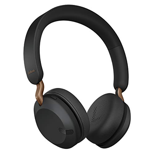 Jabra Elite 45h, Copper Black – On-Ear Wireless Headphones with Up to 50 Hours of Battery Life, Superior Sound with Advanced 40mm Speakers – Compact, Foldable & Lightweight Design