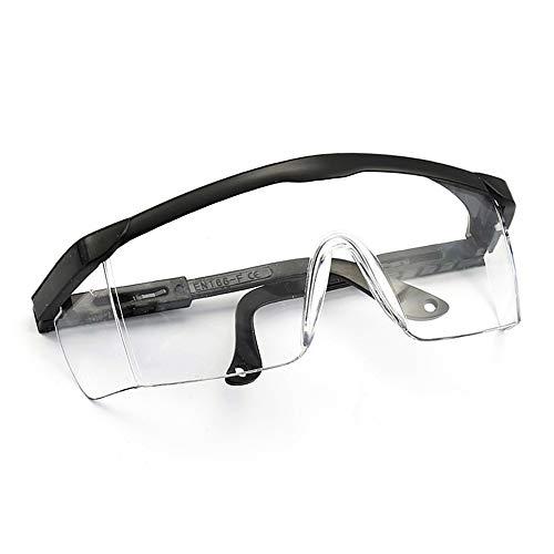 KKmoon veiligheidsbril, volledig zichtbril, overbril, slijpbril voor brildragers, antizand, winddicht, stofdicht, transparant, outdoor sport