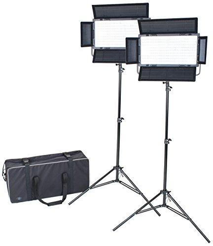 Dörr DLP-820LED-Dauerlicht mit Stativ/Transporttasche, 2 Stück