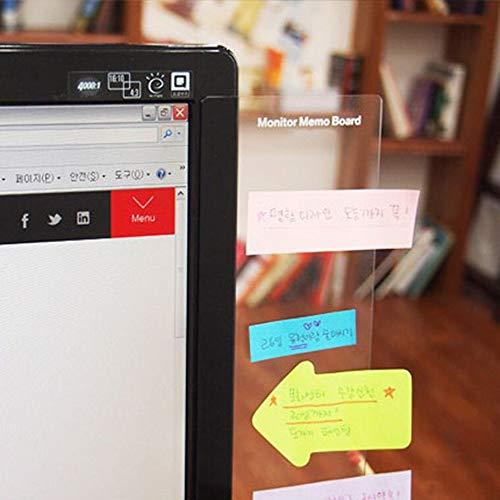Sansheng Multifunctional Acrylic Transparent Computer Display, Monitor Message Board Side Panel/Notepad/Message Board…
