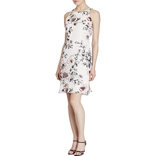 American Living Womens Ivory Floral Fit + Flare Dress 16