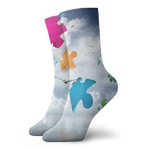 BJAMAJ Unisex Sokken Decoupeerzaag Drijvend In De Hemel Interessant Polyester Crew Sokken Volwassene Sokken Katoen