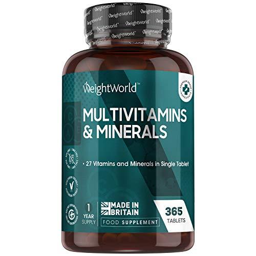 Multivitaminico Completo - 365 Compresse (Scorta per 1 Anno) - Integratore Multivitaminico con 27 Vitamine e Minerali per Sistema Immunitario, Energia, Pelle e Capelli - Multivitaminico Uomo e Donna