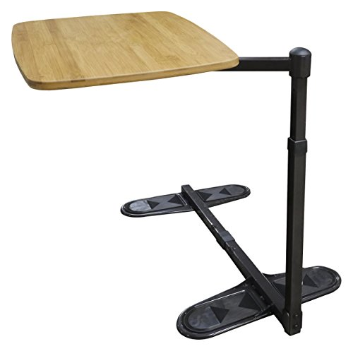 Able Life Universal Swivel TV Tray Table, Adjustable Bamboo Swivel Side Table, Dinner Tray, and Laptop Desk