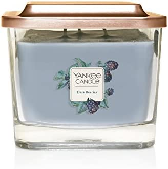 Yankee Candle Company Elevation Collection with Platform Lid Medium 3 Wick Candle Dark Berries product image