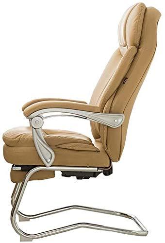 Sessel GSN Stuhl Recline Lederimitat-Füllung Sponge Haus Stuhl 180 ° Positionierung und Liegen mit Fußrasten Doppelstahlrohrhalterung (Color : Beige)