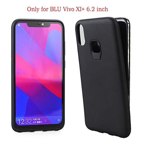 Acvensity BLU VIVO XI+ Case Black Soft Slim TPU Shock Absorption Technology Bumper Soft Anti-Drop TPU Cover Case for BLU VIVO XI+ (Black) V0310WW, V0311WW