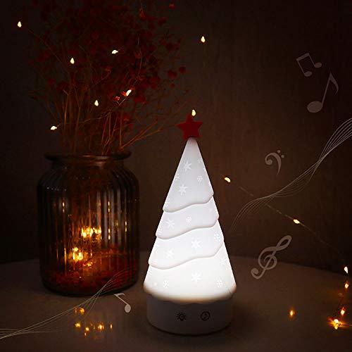 SOOTOP Weihnachtsbaum Nachtlicht, Touch Sensor Musik Nachtlampen für Kinder Stillen und Schlafmittel, USB wiederaufladbare Kinderzimmerleuchten mit Dimmbar