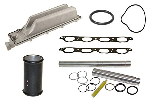 Coolant Repair Kit with Intake Valley Pan Collapsible Coolant Transfer Pipe Kit & Steel Gaskets for BMW E60 E63 E64 E65 E66 E53 E70 and Alpina B7