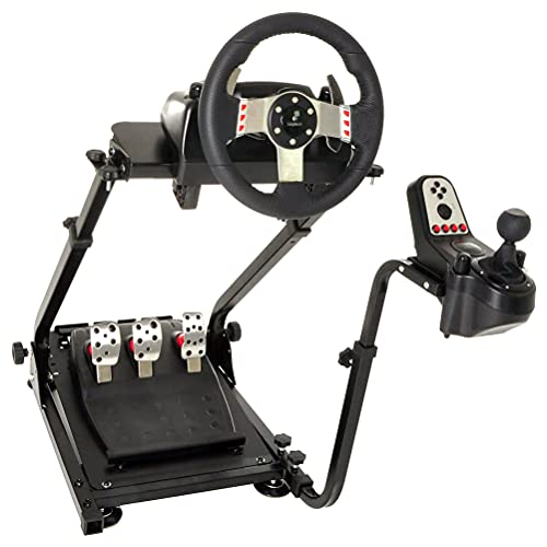 Marada G920 Steering Wheel Stand with Shifter Mount,Racing Wheel Stand Height Adjustable fit for Logitech G920 G29 G27 G25, Wheel and Pedals NOT Included(Only Stand)