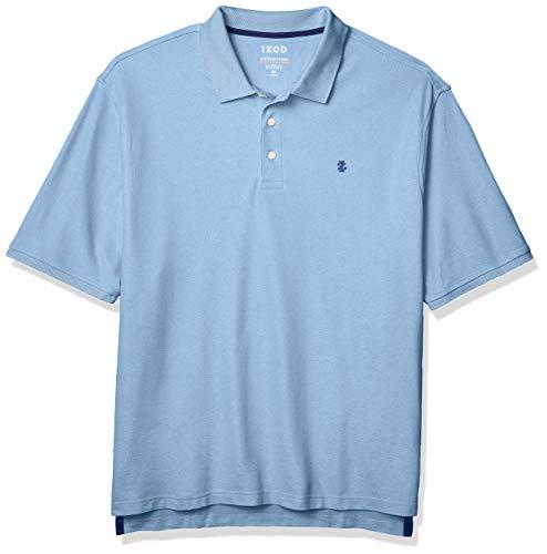 IZOD Men's Big & Tall Big and Tall Advantage Performance Short Sleeve Solid Polo Shirt, Real Little Boy Blue, Big-2XL