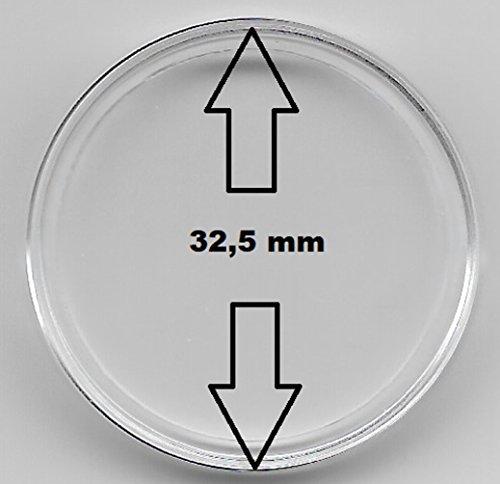 20 Stück Münzkapseln 32,5 mm, für 10 € -, 20 €, 25 € - und 10 DM - Münzen