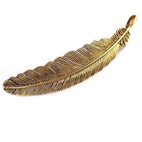2 pinzas para el pelo con diseño de plumas de metal y horquillas para el pelo, accesorio para el pelo