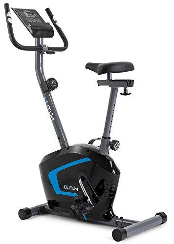 Elitum RX300 Heimtrainer Fahrrad für Zuhause - Fahrradergometer mit Trainingscomputer & Tablethalterung - kompaktes Fitnessfahhrad für EIN max. Nutzergewicht von 125kg Schwarz