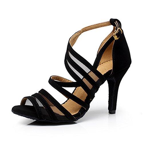 SUKUTU Zapatos de Baile de salón Mujer Tango Latino Salsa Práctica Samba Waltz Zapatos de Baile Social