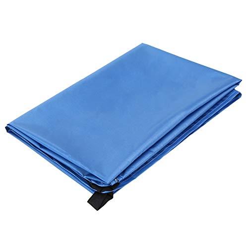 200 * 165 cm Pocket Picnic Impermeable Playa Mat Sand Beach Manta Ligera Compacto Picnic Al Aire Libre Mat Estera Hoja de Tierra Tarpa (Color : Blue, Size : XXXL)