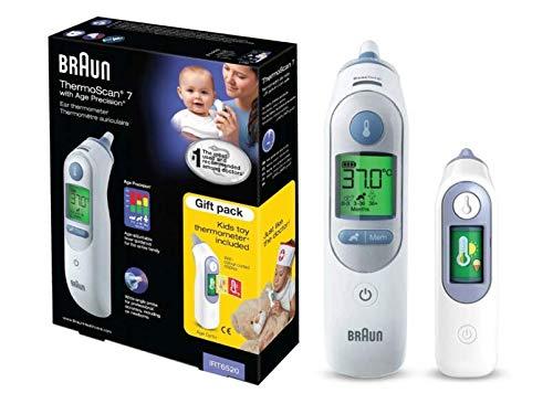 Braun Termómetro ThermoScan 7®, con tecnología Age Precision®, con un juguete.