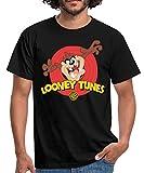 Looney Tunes Taz Der Tasmanische Teufel Männer T-Shirt, L, Schwarz