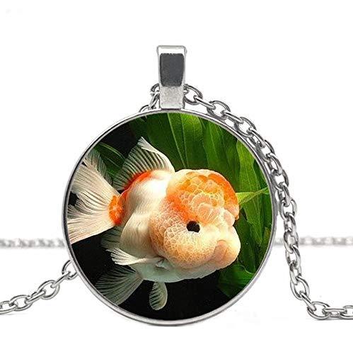 Charm Goldfish Aquarium Runde Anhänger Halskette Herren Und Damen Anhänger Halskette
